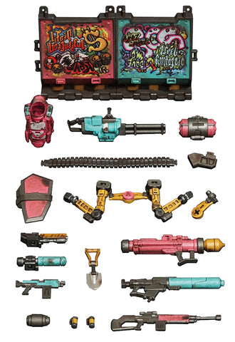 ACID RAIN TOYS ALLIANCE LIMITED 1/18 SCALE FAV-AP04 VIVA LA LOCA HALOGEN FIRE WEAPONS PACK