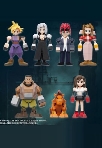FINAL FANTASY VII Square Enix POLYGON FIGURE DISPLAY (BLIND BOX OF 8) [FIGURINE]