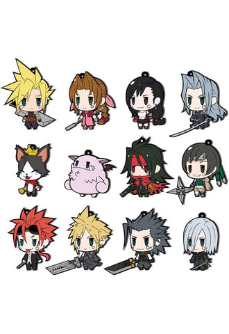FINAL FANTASY TRADING RUBBER STRAP Square Enix FF VII EXTENDED EDITION (SET OF 12)