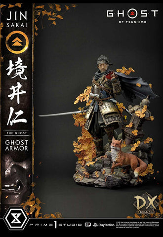 GHOST OF TSUSHIMA Prime 1 Studio JIN SAKAI, THE GHOST - GHOST ARMOR EDITION DELUXE VERSION