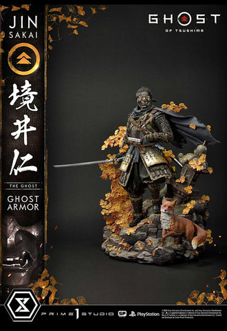 GHOST OF TSUSHIMA Prime 1 Studio JIN SAKAI, THE GHOST - GHOST ARMOR EDITION REGULAR VERSION