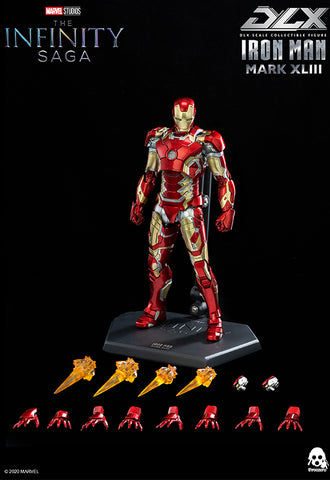 Avengers: Infinity Saga threezero 1/12 scale DLX Iron Man Mark 43