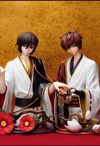 Statue and ring style FREEing Lelouch Lamperouge & Kururugi Suzaku(SIZE 13)