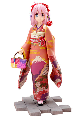 Yuru Camp FURYU Corporation Yuru Camp Nadeshiko Kagamihara Furisode ver. 1/7 Scale Figure