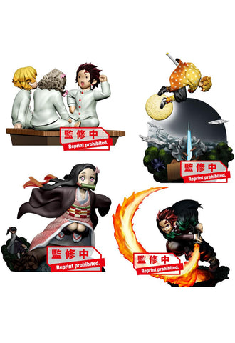 Demon Slayer Kimetsu no yaiba MEGAHOUSE PETITRAMA SERIES Vol.1 (Set of 4 Characters)