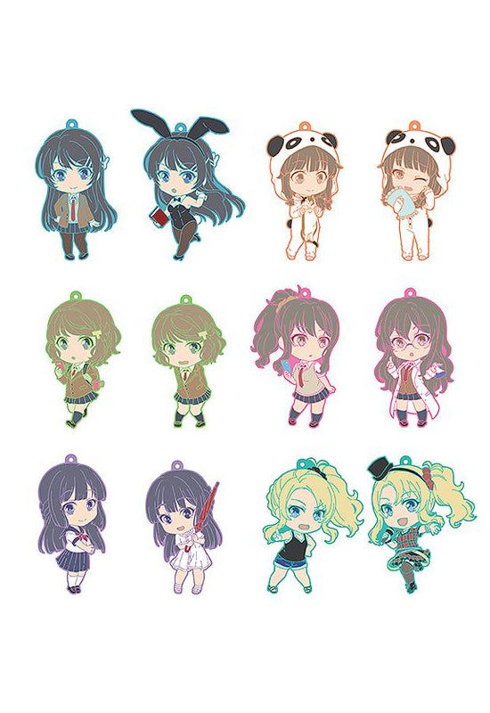 Rascal Does Not Dream of Bunny Girl Senpai Good Smile Company Nendoroid Plus Collectible Keychains (1 Random Blind Box)