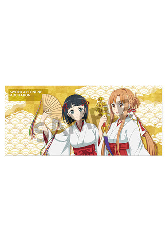 SWORD ART ONLINE ALICIZATION HOBBY STOCK Microfiber Towel Asuna&Suguha Shrine Maiden ver.