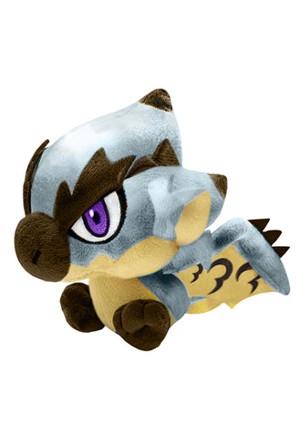 MONSTER HUNTER CAPCOM Monster Hunter Chibi Plush Toy Silver Rathalos