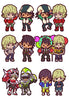 TIGER&BUNNY MEGAHOUSE RUBBER MASCOT BUDDY COLLECTION (Set of 6 Characters)