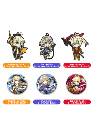 GOODSMILE RACING & TYPE-MOON RACING Good Smile Company Nendoroid Plus Collectible Rubber Keychains & Badges (Set of 6 Characters)