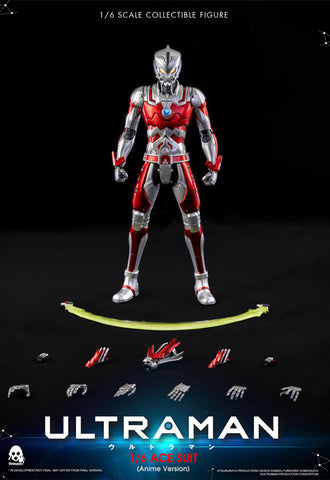 ULTRAMAN threezero ULTRAMAN ACE SUIT Anime Version 1/6