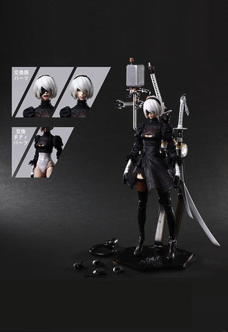 NieR:Automata® PLAY ARTS KAI™ Square Enix Action Figure – 2B (YoRHa No. 2 Type B) DELUXE Ver.