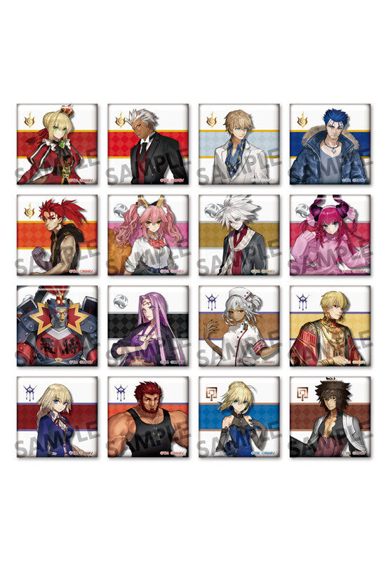 Fate/EXTELLA HOBBY STOCK Trading Square Can Badge (Box of 50 Badges)