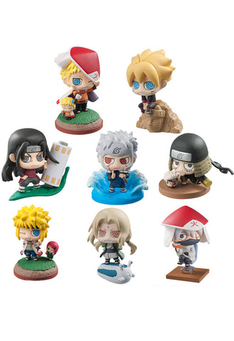 BORUTO -NARUTO THE MOVIE MEGAHOUSE PETIT CHARALAND BORUTO & HOKAGEO We have grown! (Set of 8 Characters)