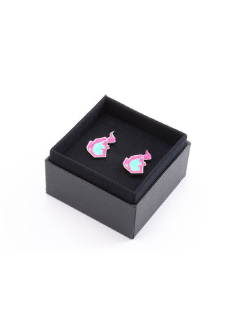PROMARE ORANGE ROUGE Burnish Flare Clip-On Earrings