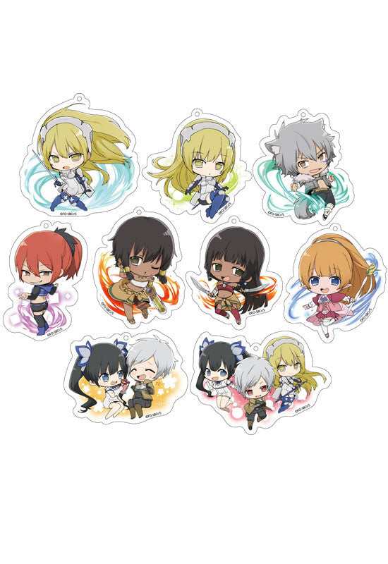 SWORD ORATORIAIs It Wrong to Try to Pick Up Girls in a Dungeon? On the Side Genco Sparkling Acrylic Collection (Set of 9 Characters)