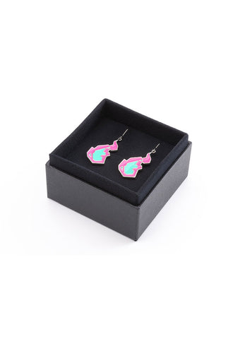 PROMARE ORANGE ROUGE Burnish Flare Earrings
