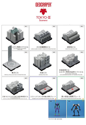Japan Desk-top Development Inc. GEOCRAPER TOKYO3 Scenery EVANGELION (Box Set of 10 Pieces)