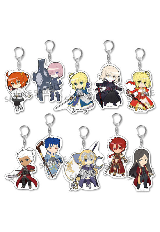 Fate/Grand Order HOBBY STOCK Pikuriru! Fate/Grand Order Trading Acrylic Keychain (Set of 10 Characters)