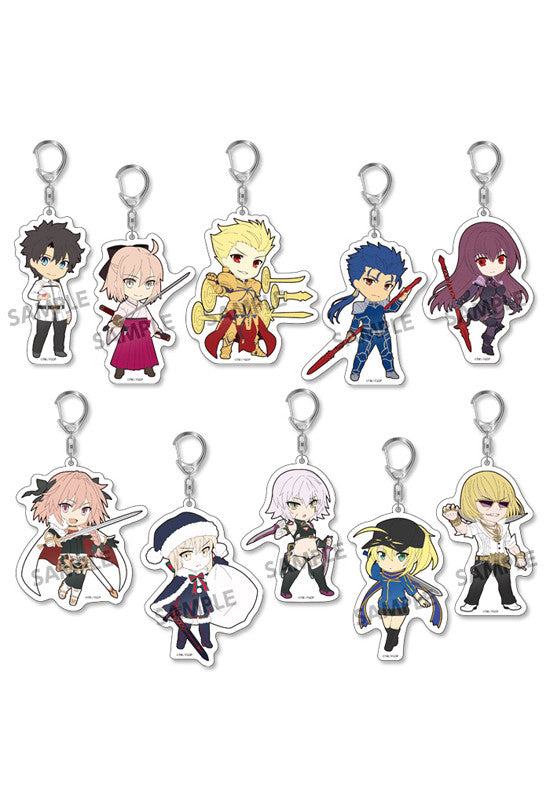 Fate/Grand Order HOBBY STOCK Pikuriru! Fate/Grand Order Trading Acrylic Keychain vol.2 (Set of 10 Characters)