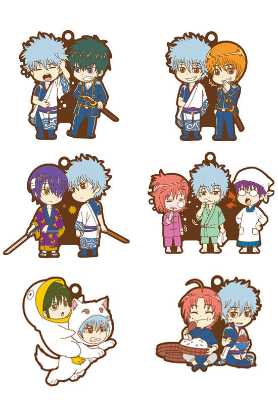 GINTAMA MEGAHOUSE RUBBER MASCOT BUDY-COLLE GINTAMA HE & I (Set of 6 Characters)