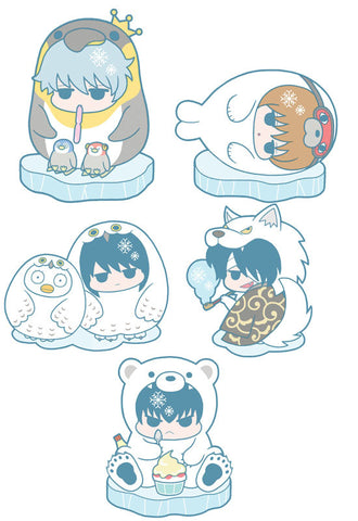 GINTAMA MEGAHOUSE RUBBER MASCOT GINTAMA HATA OJI & ANIMAL! (6 Random Blind Box)