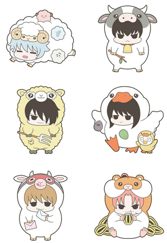 GINTAMA MEGAHOUSE RUBBER MASCOT PRINCE OF HATA LOVE & PIECE FARM (Set of 6 Characters)