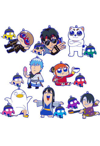 GINTAMA MEGAHOUSE OKAWABUKUBU OSYANTY♡RUBBER MASCOT (Box of 8 Blind Boxes)