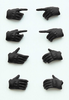 LittleArmory TOMYTEC LittleArmory-OP3: figma Tactical Gloves (Stealth Black)(5th-run)