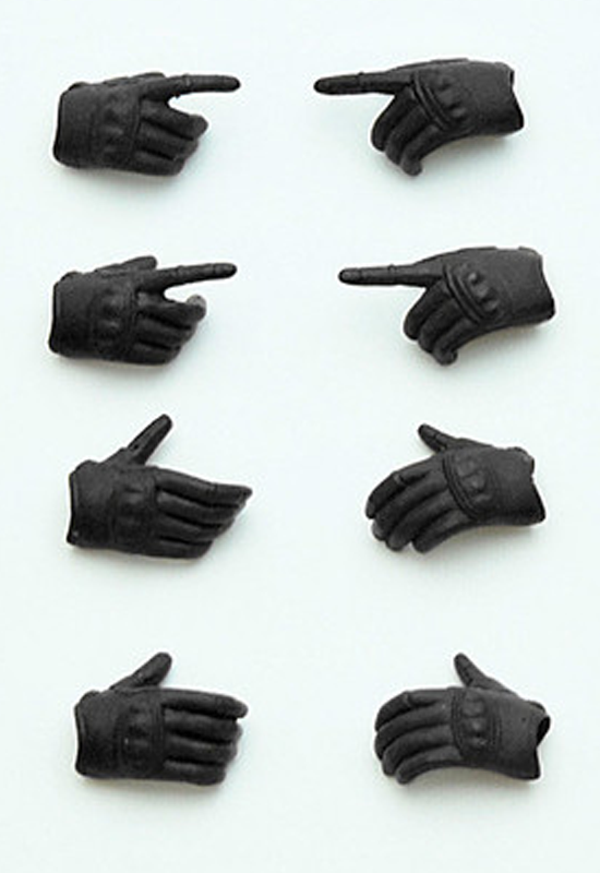 LittleArmory TOMYTEC LittleArmory-OP3: figma Tactical Gloves (Stealth Black)(4th-run)