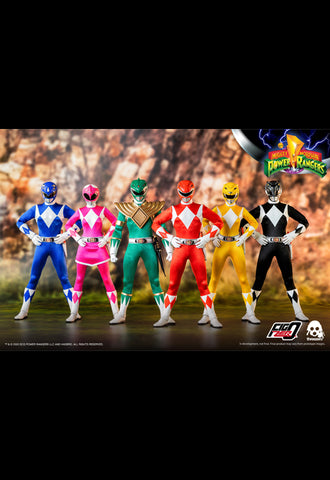 CB Mighty Morphin Power Rangers threezero 1/6 Core Rangers+Green Ranger Six-Pack