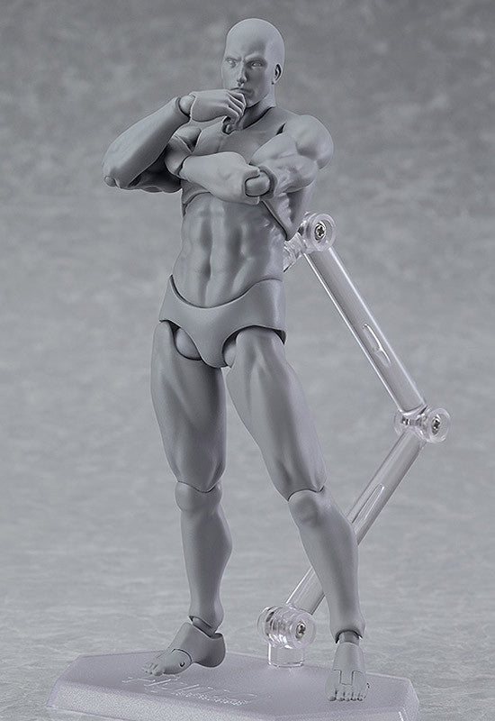 03♂ figma archetype Max Factory next: he - gray color ver. (re-run)