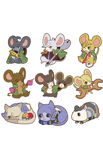 GUNDUM IRON BLOOD ORPHAN MEAGHOUSE CYU RUBBER MASCOT DE-CHU! (Set of 9 Characters)
