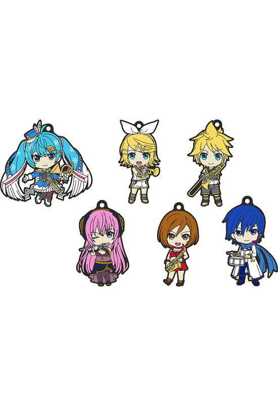 Character Vocaloid Series01 Hatsune Miku Good Smile Company [Trading] Hatsune Miku Nendoroid Plus Rubber Keychain Band Together Vol.2 (Set of 6 Characters)