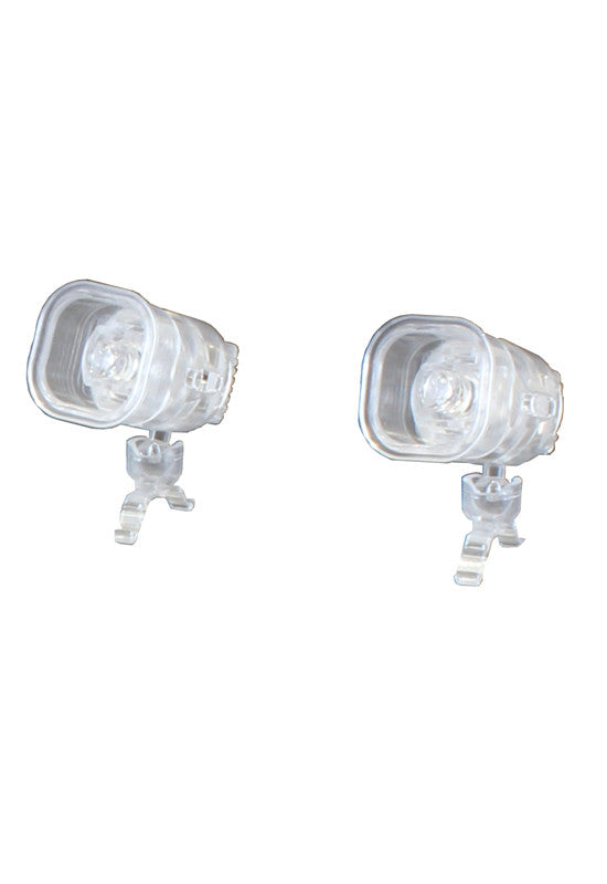 MODELING SUPPLY PLUM PLASTIC ACCESSORY02:LED STAGE LIGHT CLEAR Ver. (WHITE)