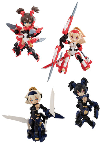 DESK TOP ARMY MEGAHOUSE MEGAMI DEVICE ASURA SERIES (Set of 4 Characters)