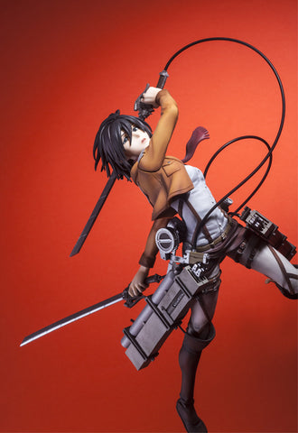Attack on Titan Union creative Hdge technical statue No.5 Mikasa Training Corps Ver. Figure