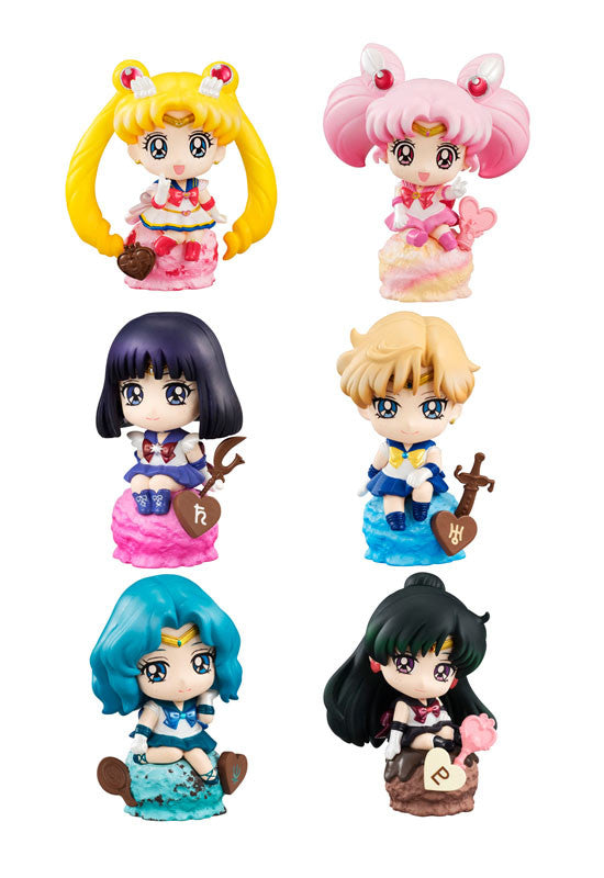 SAILOR MOON MEGAHOUSE PETIT CHARA ICE CREAM☆PARTY (BOX OF 6 CHARACTERS)