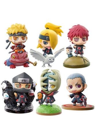 NARUTO SHIPPUDEN MEGAHOUSE PETIT CHARA LAND NARUTO & AKATSUKI PART 1(Re-run) (Set of 6 Characters)