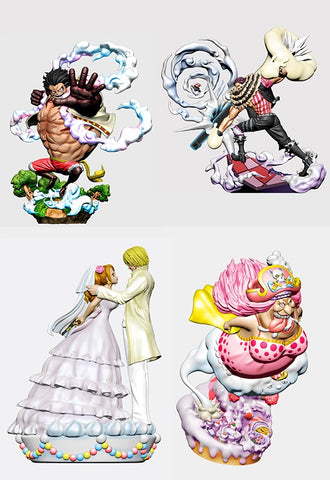 ONE PIECE MEGAHOUSE  LOG BOX Re:Birth Whole Cake Island Ver.(Set of 4 Characters)