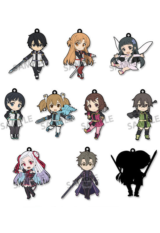 Sword Art Online The Movie – Ordinal Scale – HOBBY STOCK Pikuriru! Trading Rubber Strap (Box Set of 10 Characters)