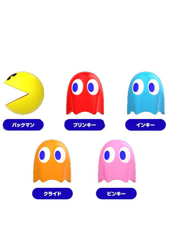 PAC-MAN Good Smile Company PAC-MAN PAC-MAN Cable Mascots (Set of 6 Characters)