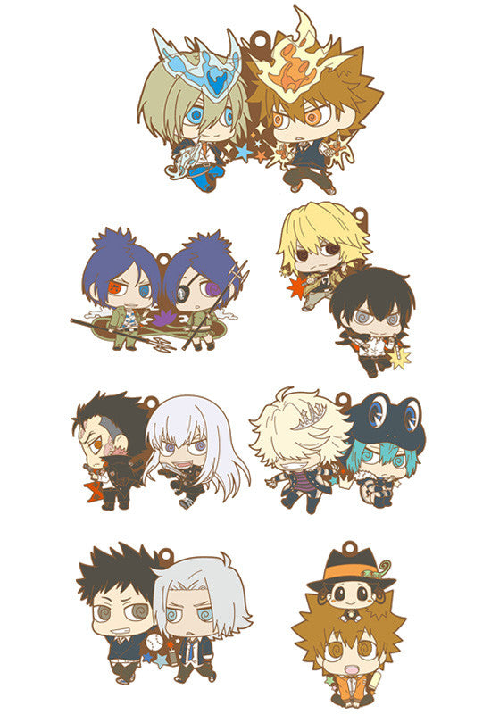 HITMAN REBORN MEGAHOUSE RUBBER MASCOT BUDY-COLLE KATEKYO (Set of 7 Characters)