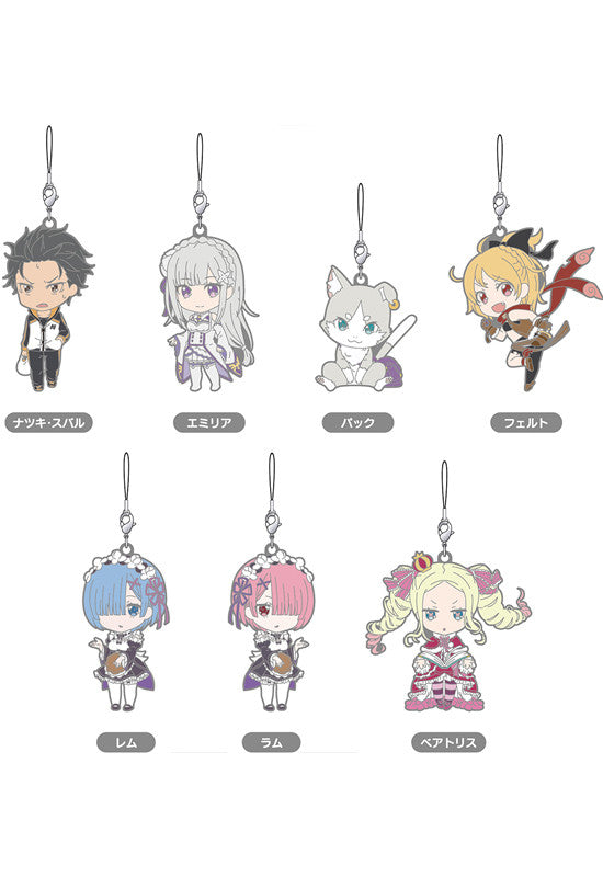 Re:ZERO -Starting Life in Another World- GOOD SMILE COMPANY Nendoroid Plus: Re:ZERO -Starting Life in Another World- Collectible Rubber Straps (Set of 7 Characters)
