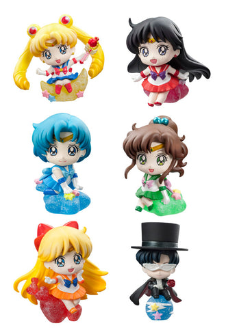 Petit Chara Land Pretty Solder Sailor Moon MAKE UP WITH CANDY (Set of 6 Characters)