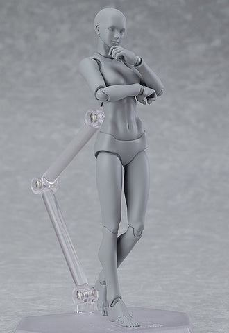 03♀ figma archetype Max Factory next: she - gray color ver. (re-run)