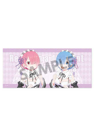 Re:ZERO -Starting Life in Another World- HOBBY STOCK Re:ZERO -Starting Life in Another World-  Microfiber Towel Rem&Ram Maid ver.
