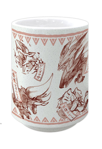MONSTER HUNTER DOUBLE CROSS CAPCOM Japanese pattern YUNOMI Red