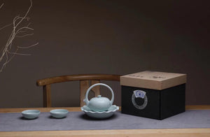 New Arrival: Modern Design 4-pc Porcelain Tea Set with gift box