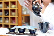 New! Oryoqi® Lapis Lazuli  Gongfu Tea set in Blue-Black Glaze